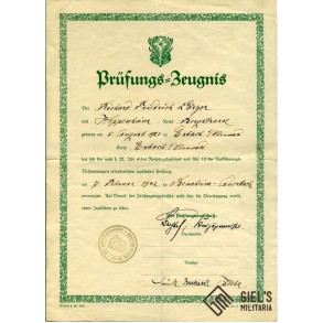 DJ Hunting License document to R.F. Lörzer, Heppenheim
