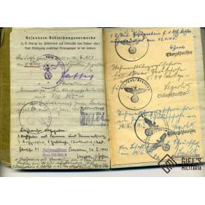 Soldbuch to Leutnant A. Wittes, AR115 in Africa, WIA, EK1, EK2, Africa medal,...