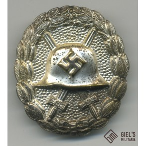 Wound badge in silver, 1st pattern by O. Schickle