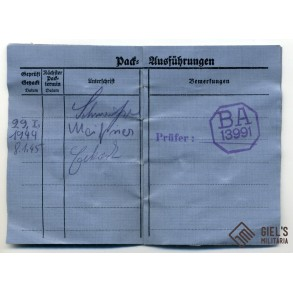 Luftwaffe paratrooper parachute check card