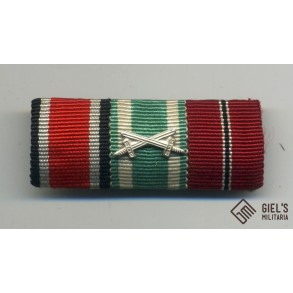3 place ribbon bar with Ostvolk Medal