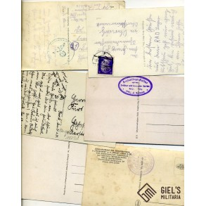 Lot of 6 period postcards.