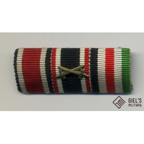 3 place ribbon bar with Italian/German Africa medal
