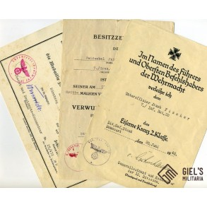 Grouping to Feldwebel J. Fischer, IR20, EK2 1940