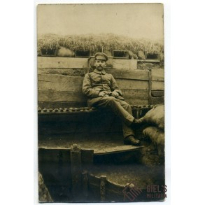 WW1 photo, German NCO in the trenches