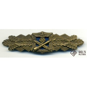 Close combat clasp in bronze by AGMuK, blue backplate!