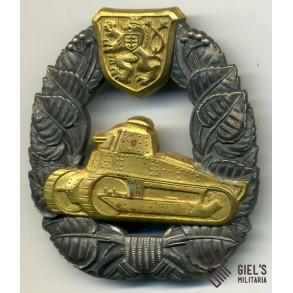 Tschechoslowakei panzer assault badge 1918 - 1938