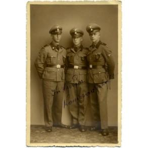Portrait photo 3 members of SS Totenkopf 1940!!