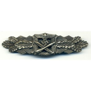 """Close combat clasp in silver """"6 dot"""" variant"""