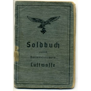 Soldbuch to Uffz. F. Hohberg, Luftwaffe tropical flak unit, Greece
