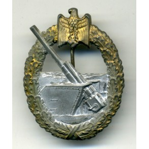 Coastal artillery badge by H. Aurich