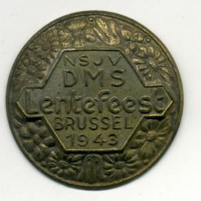 Flemish collaboration tinnie NSJV DMS Lentefeest Brussel 1943