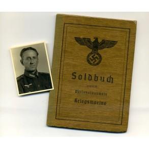 Soldbuch to W. Lüfmann, Marine Flak Abt 224