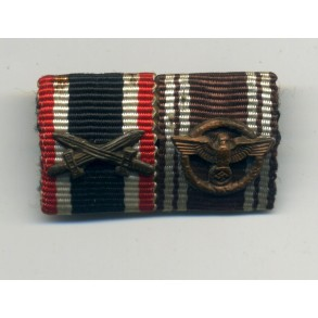2 place medal bat with 10 year NSDAP service award