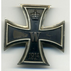 "WW1 Iron cross 1st class with ""square maker punch"""