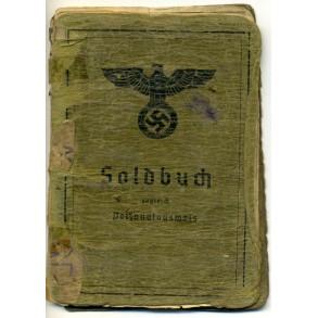 Soldbuch to Uffz. J.Dietrich, IR528, EK2 Namur 1940!! Italy 1944