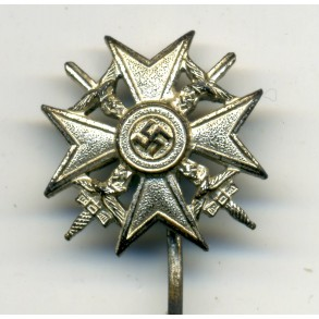 Spanish Cross in silver 16 mm miniature by W. Deumer L/11
