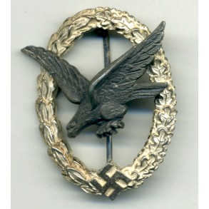 Luftwaffe airgunner badge by W. Deumer, factory without bolts!!