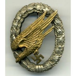 Luftwaffe paratrooper badge by W. Deumer