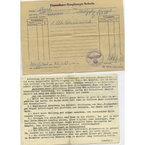 Wehrpass to Stabsintendant H. Mieran, 7 Pz. Div, Gren Reg 871, KVK1+2 + ID tag, Italy 1944.