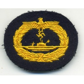 Kriegsmarine U-boat badge, cloth variant