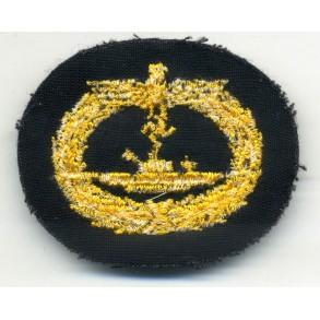 Kriegsmarine U-boat badge, cloth variant