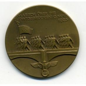 NSDAP remembrance medal Ludwigsbrücken 1935
