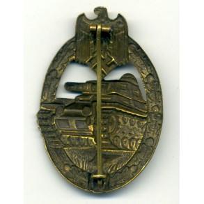 Panzer Assault Badge in bronze by K. Wurster