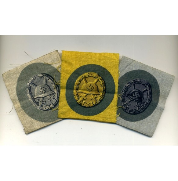 Wound badges in cloth, complete 3 grades!!!