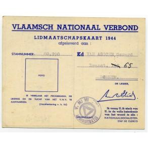 VNV membership card, 1944