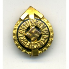 HJ leader badge in gold miniature by G. Brehmer