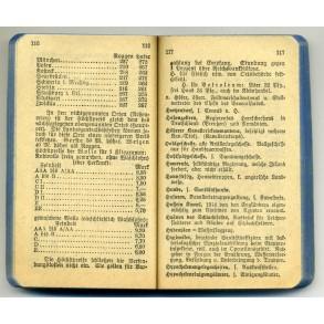 """Booklet """"Auskunftsbuch über Krieg, heer und flotte"""" 1915"""