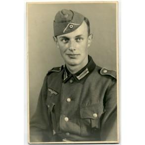 Portrait Gefreiter with Wound Badge in Black 1942