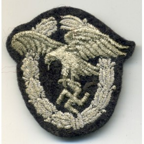 Luftwaffe observer badge in cloth