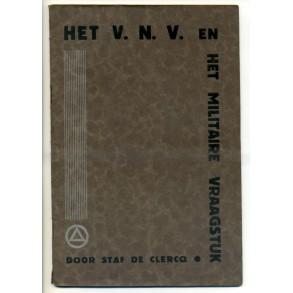 """VNV brochure """"Het militaire vraagstuk"""" Staf De Clercq"""""""