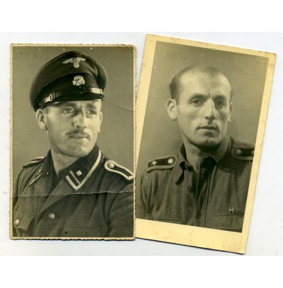 2 SS portraits SS-Scharführer