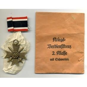 War Merit Cross 2nd class with swords by Steinhauer & Lück + package