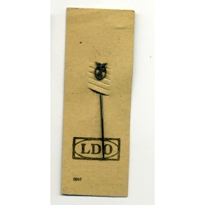 Luftwaffe flak badge 9mm miniature on LDO cardboard