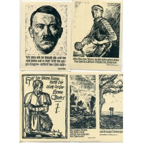 Series of DRK/WHW NSDAP postcards
