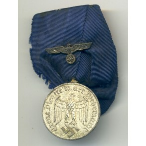 Army 4 year service award, single mounted