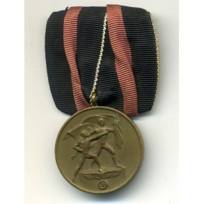 1st oktober Czech annexation medal, single mounted