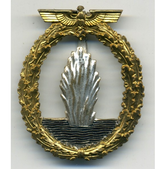 "Kriegsmarine minesweeper badge by Hymmen & Co ""L/53"""