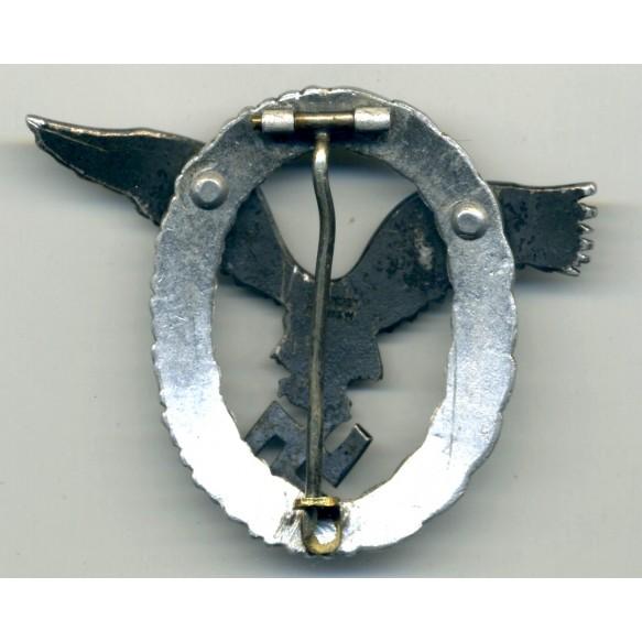 Luftwaffe Pilot Badge by C.E. Juncker, Aluminium!