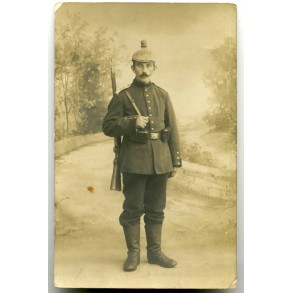 WW1 Portrait photo artillery soldier