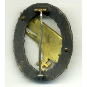 Luftwaffe paratrooper badge by F. Linden