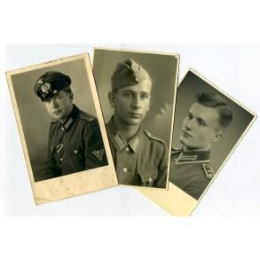 3 portrait photos, NCO, decorations,...