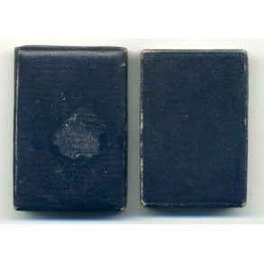 Blue LDO box for wound badge in black