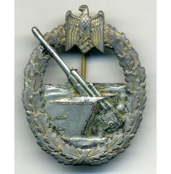 Kriegsmarine Coastal Artillery Badge by Steiunhauer & Lück