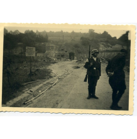 Private snapshot fort Eben Emael, Belgium 1940