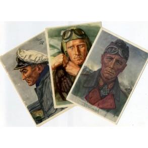 Period postcards VDA Rommel, Prien & Willrich 1940